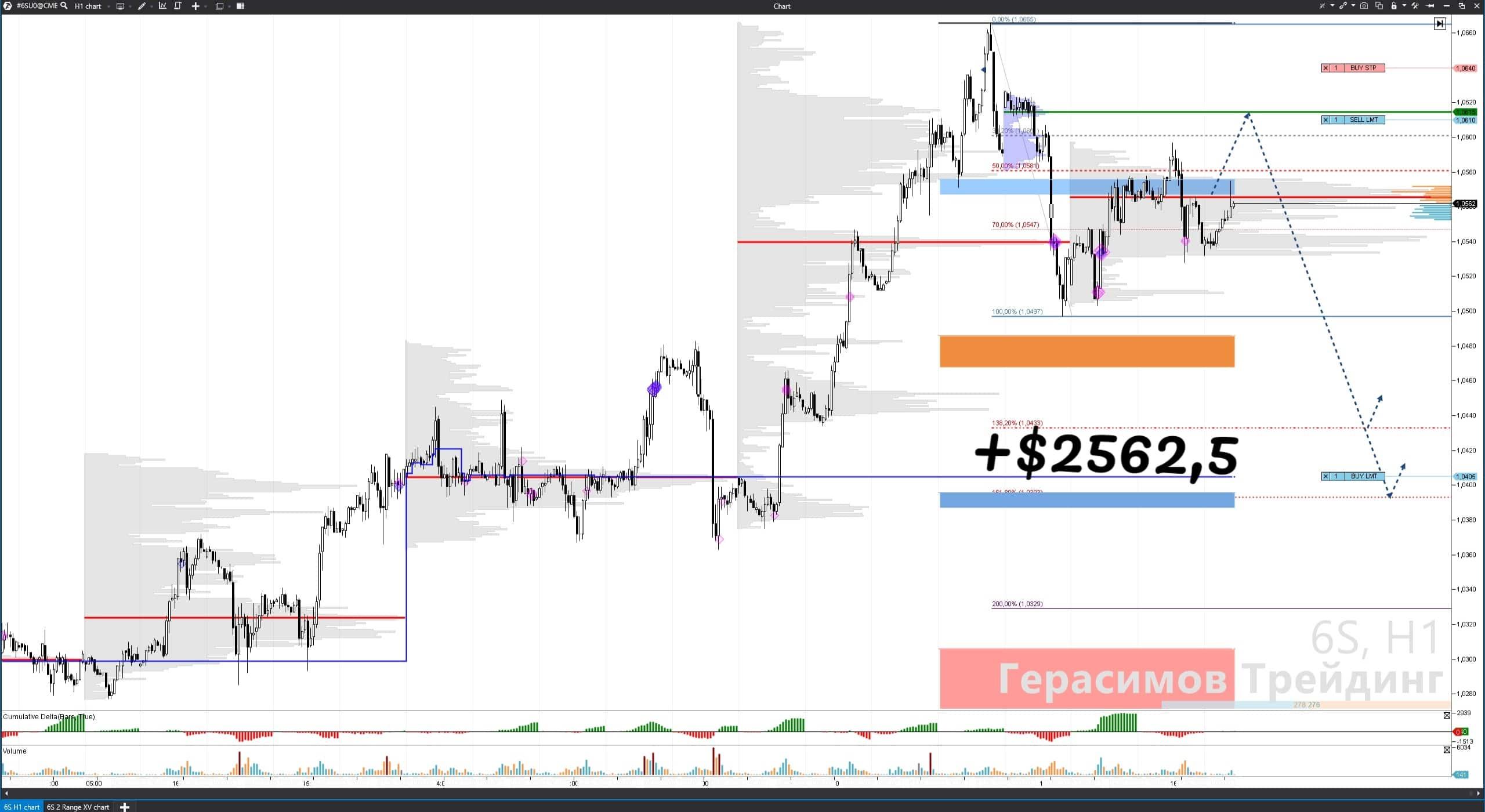 +$2562.5 прибыли по Швейцарскому франку. Торговый сигнал. Герасимов Трейдинг